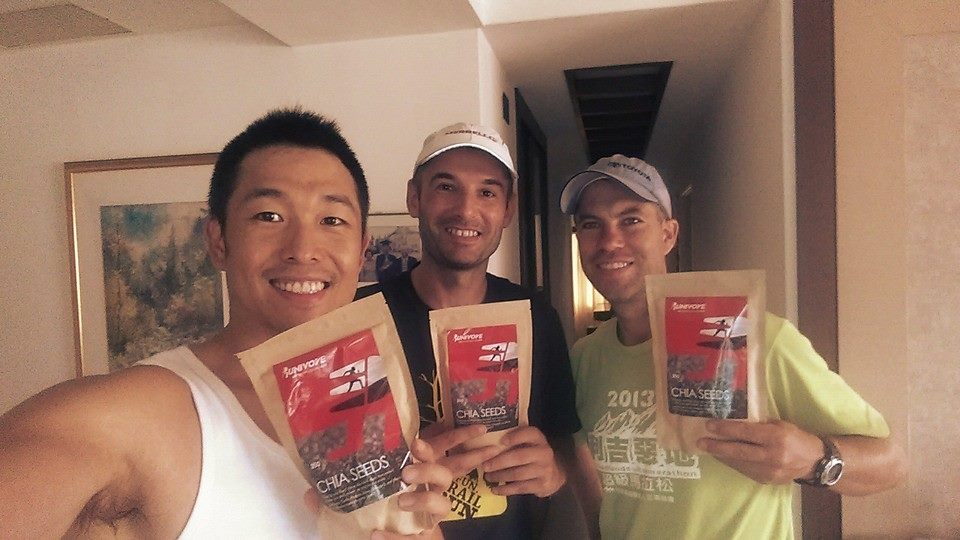 3 guys with runivore chia seeds