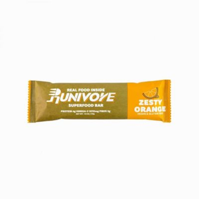 Runivore Zesty Orange Superfood Bar – Refreshing Citrus Taste in a Well Balanced Energy Bar