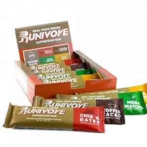 Runivore 綜合能量棒 – 原味、可可、抹茶、柳橙四種口味可任意混搭